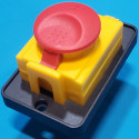 Кнопка бетономішалки 5 контактів 16А DKLD DZ-6-2 з кришкою