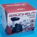 М`ясорубка Grunhelm 1400W AMG140B 2 реш насад ковбас кеббе реверс продуктивність 1.7 кг