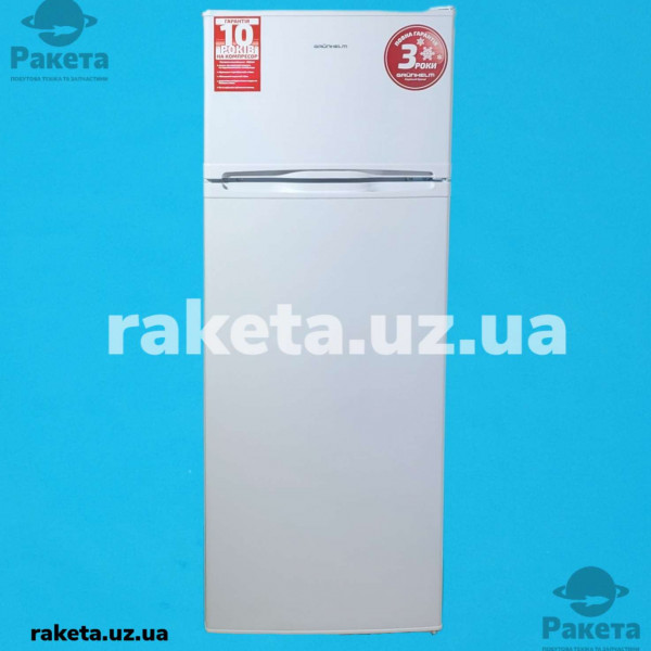 Холодильник Grunhelm GRW-143DD білий 2-х камерний верхня камера 1415х550х580