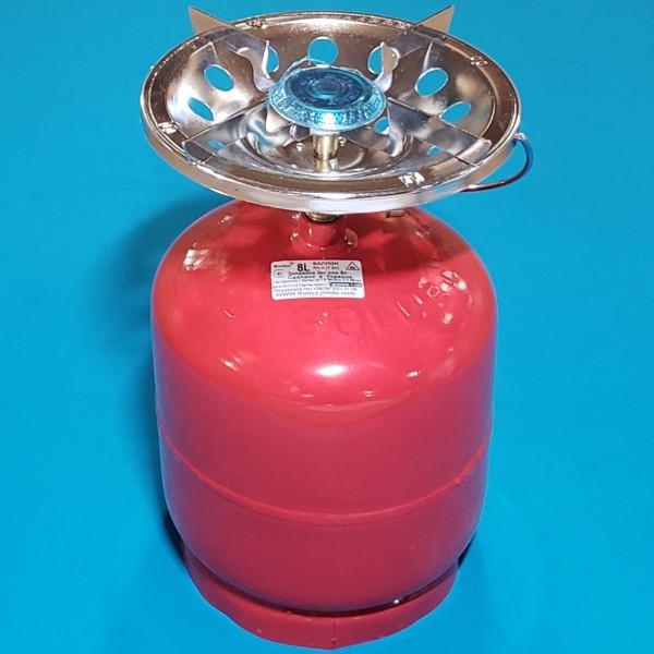 Газовий балон+плита ТУРИСТ 8л