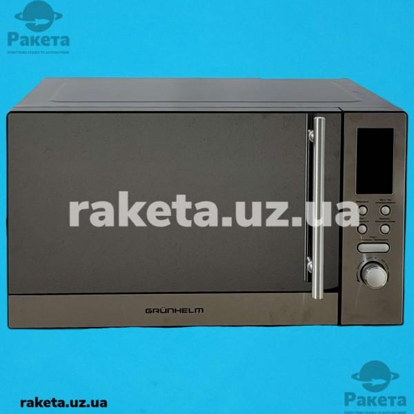 Мікрохвильова піч Grunhelm 23MX923-S нержавійка 23л 800W 5 рівнів потужності, електрон управління таймер 100 хв