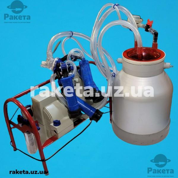 Доїльний апарат Імпульс ПБК-4 КОРОВА (рез.Д.041) відро алюмінієве 20л