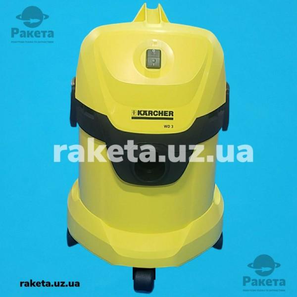 Порохотяг господарчий KARCHER WD 3 споживча потужність 1000Вт потужність всмоктування 1400Вт бак 17л кабель 4м вага 5.4кг