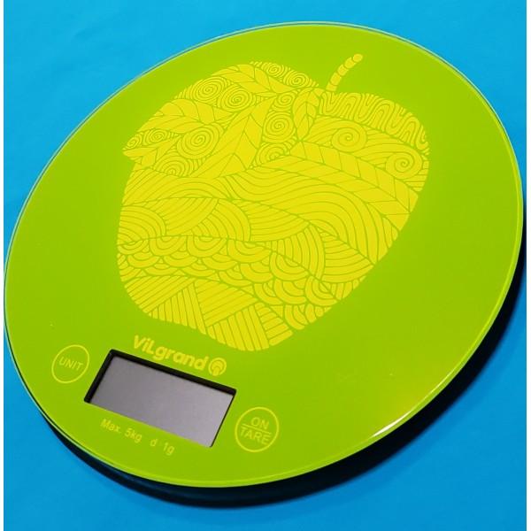 Ваги кухонні електронні Vilgrand VKS-519 Яблуко без чаші 5кг точність 1г автовикл