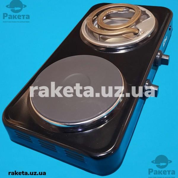 Електро плита настільна дискова ЕЛНА ЭПТ2Ч-Т 2 кам (2-2,5 кВт/220В, диск+широкийй  тен)