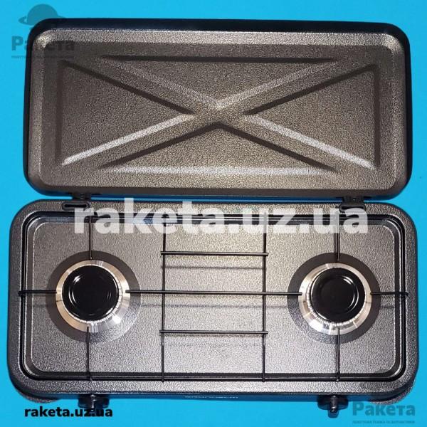 Таганок газовий Grunhelm GGP-6012 2-х камфорний з кришкою
