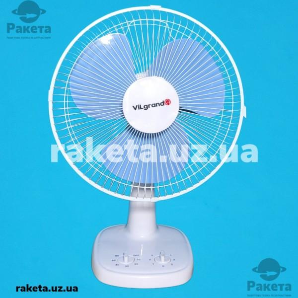 Вентилятор настільний Vilgrand VTF3031 Blue 30W 3 швидкості кут нахилу 30 автоповорот 90 D=30 см