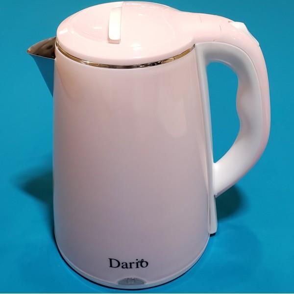 Електрочайник Dario DR2301 Rose 2000W 2,3л ефект ТЕРМОС подвійний корпус автовикл індикатор
