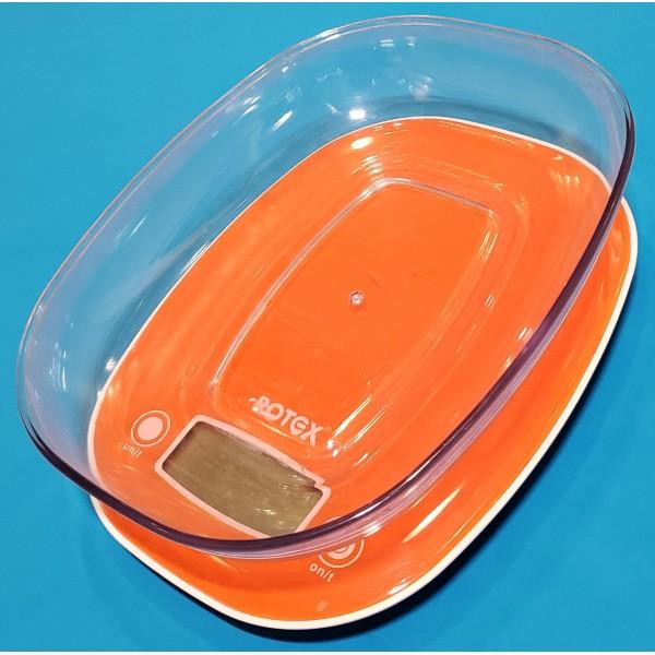 Ваги кухонні електронні Rotex RSK19-P 5кг чаша пласт LSD дисплей індикатор батареї і перенавантаження