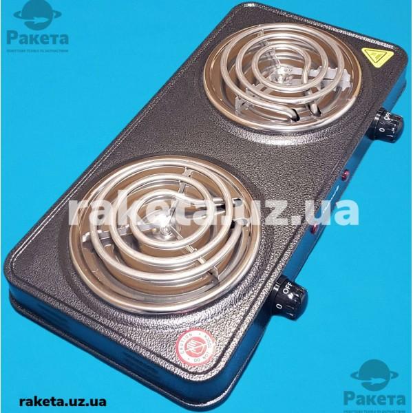 Плита електрична Vilgrand VHP132 Gray 1000W+1000W 2-х камфорна ПРОСТА 2 елементи d=150 мм СІРА