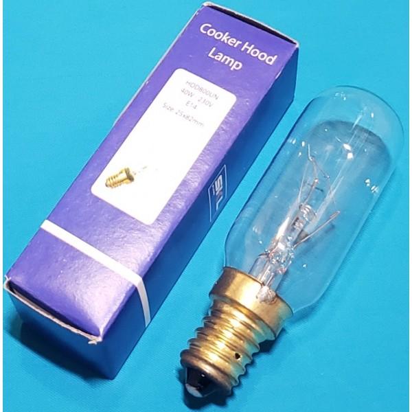 Лампочка на витяжку 40 W E14 25х82