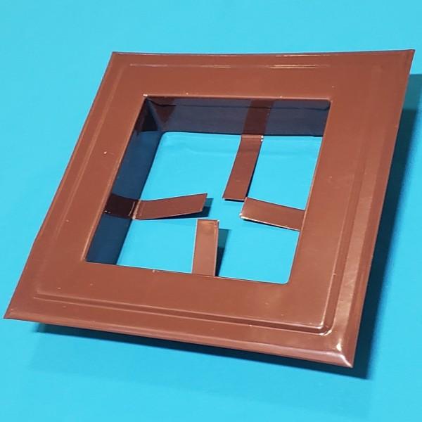 Розетта для кухні металева квадратна коричнева