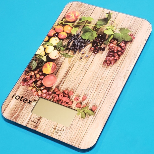 Ваги кухонні електронні Rotex RSK14-P Grape 5кг точність 1 г LCD дисплей автовідключення