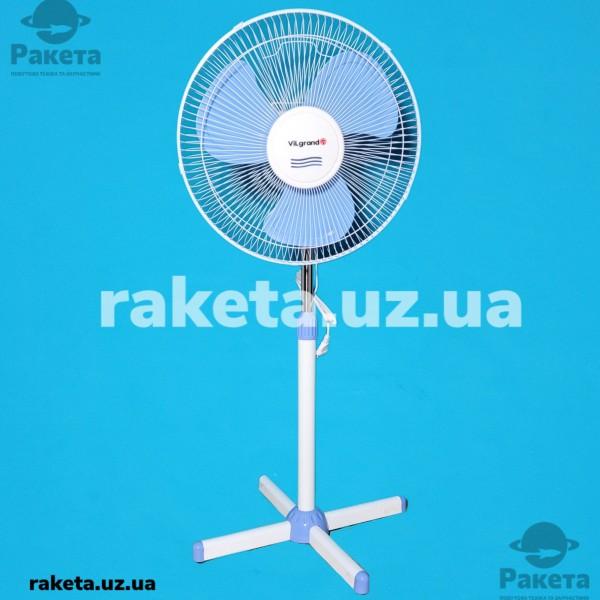 Вентилятор підлоговий Vilgrand VF400 Blue 45W 3 швидкості кут повороту 90 D=40 см
