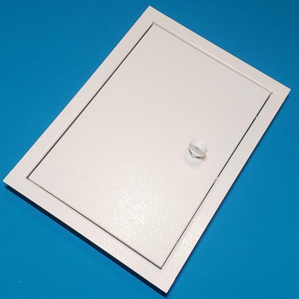 Металеві ревізійні дверки ДРМ 50/60 білі