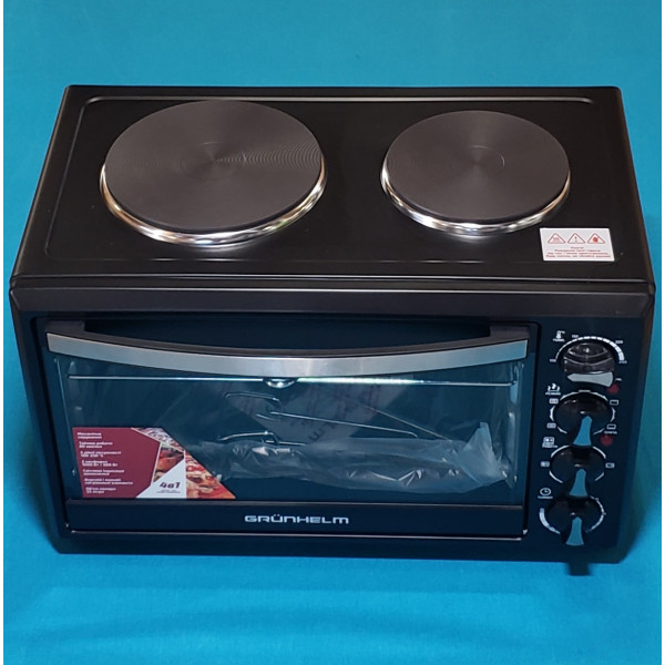 Піч-плита електрична Grunhelm GN3301RHP 33л 1800W з грилем