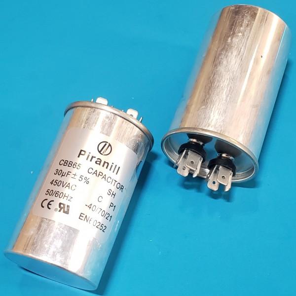 Конденсатор 30 мкФ 450 VAC алюміній (45х85 mm) JYUL