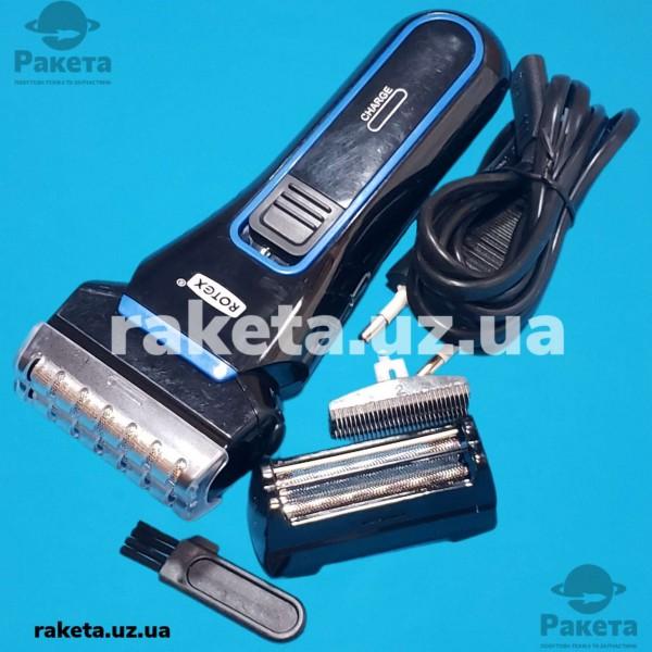 Електробритва Rotex RHC210-S 3W титан сітка 2 плаваючі головки акумулятор слайд-тример