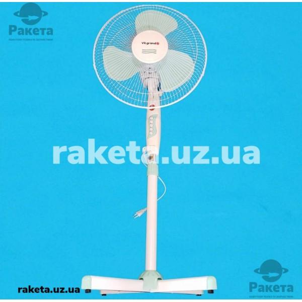 Вентилятор підлоговий Vilgrand VF401 Mentol 45W 3 швидкості кут повороту 90 D=40 см підсвітка