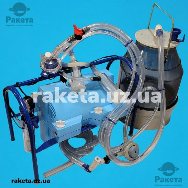 Доїльний апарат Імпульс ПБК-4 КОЗА від 1-8 (сил.рез) відро полікарбонатне