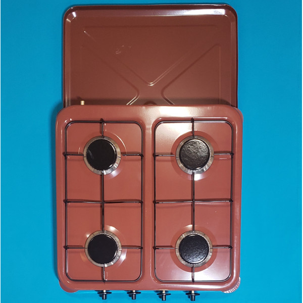 Газовий таганок Vilgrand VGP-404 Brown 4-х камфорний КОРИЧНЕВИЙ