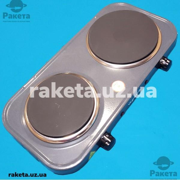 Плита електрична Vilgrand VHP172F Gray 1000W+1500W 2-х камфорна БЛИН 2 елементи d=155 мм + d=185 мм СІРА