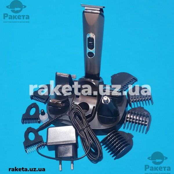 Машинка для стрижки Maestro MR 662 з набором аксесуарів змінні насадки регулятор довжини зарядний адаптер