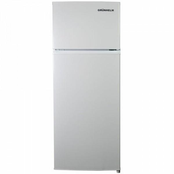 Холодильник Grunhelm GTF-143M білий 2-х камерний верхня камера 1430х550х530