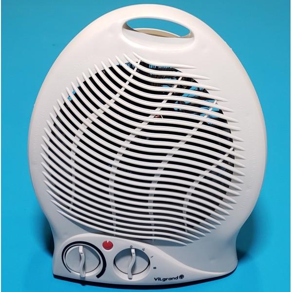 Тепловентилятор Vilgrand VF2011 Gray 1000/2000W 3 режими холод термостат 8 СІРИЙ