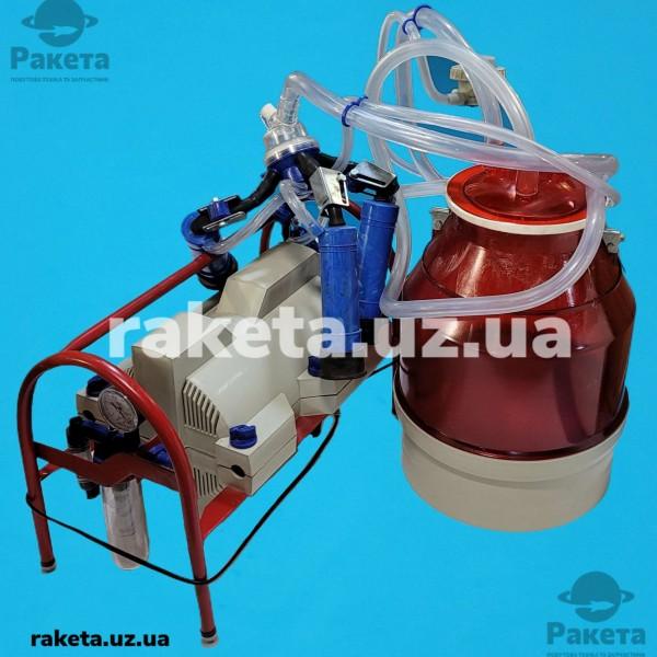 Доїльний апарат Імпульс ПБК-4 КОРОВА (рез.Д.041) відро полікарбонат 22л