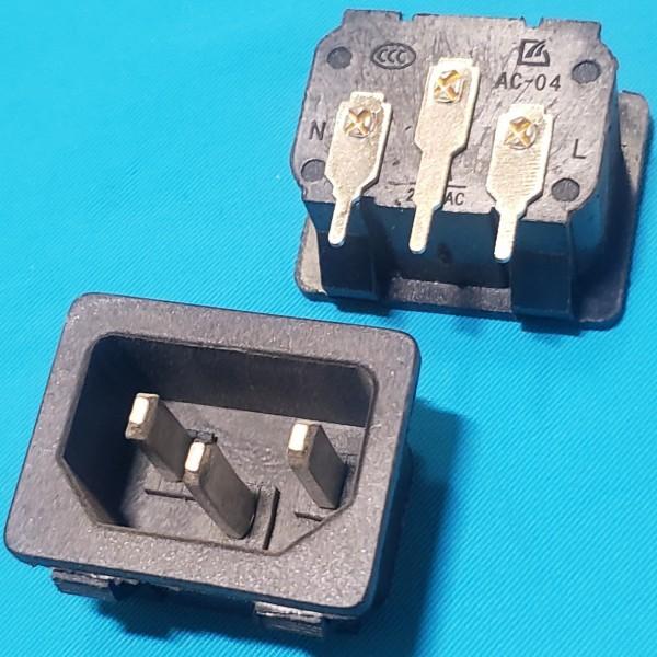 Роз`єм (штекер) мережевий 3 контакти АС-04