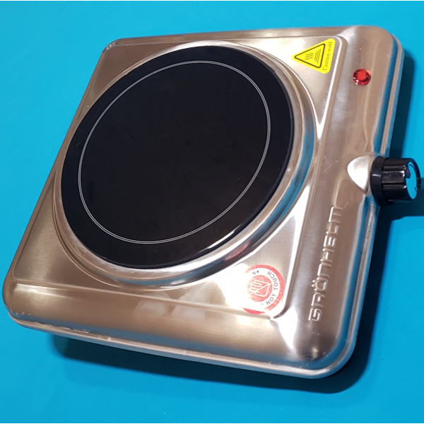 Електроплита дискова Grunhelm GHP-5842S склокераміка 1200W 1-но камфорна
