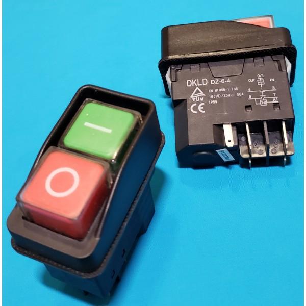 Кнопка бетономішалки 5 контактів 15А DKLD DZ-6 чорна
