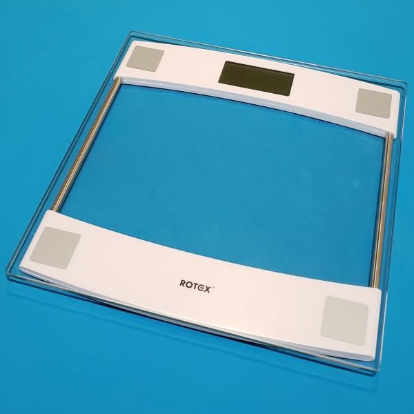 Ваги підлогові електронні Rotex RSB08-P макс вага 150кг LCD дисплей скляняна платформа 6мм