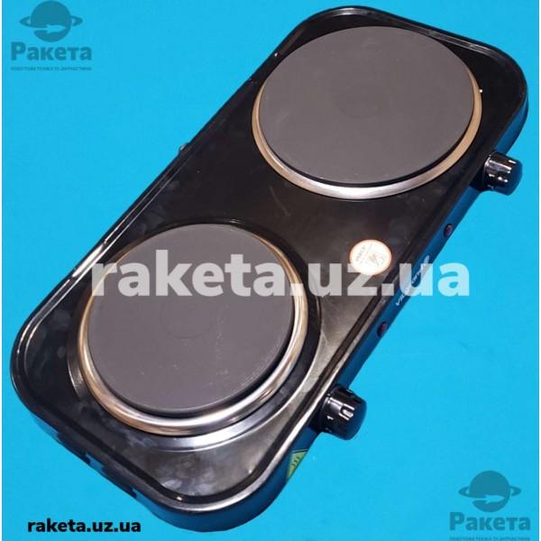 Плита електрична Vilgrand VHP172F Black 1000W+1500W 2-х камфорна БЛИН 2 елементи d=155 мм + d=185 мм ЧОРНА