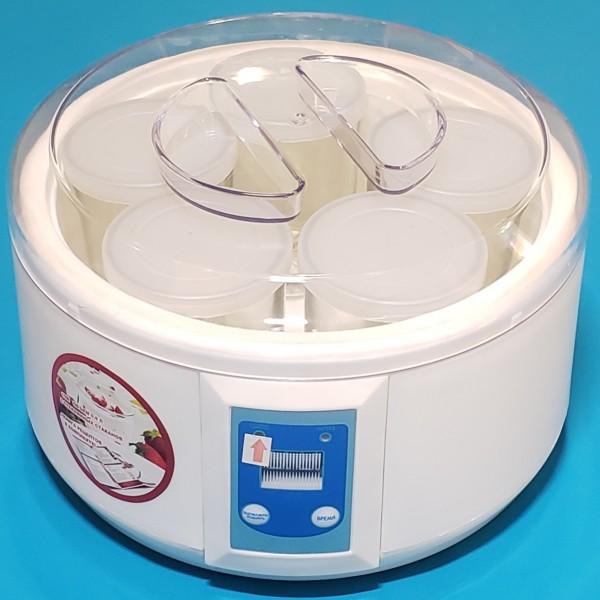 Йогуртниця Rotex RYM08-Y 15W об`єм 0,9л 5 склян стакан індик тайм керам нагр елем