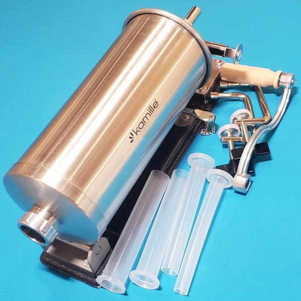 М`ясорубка шприц для КОВБАС Kamille KM-6502 3.0кг з нержавіючої сталі з силіконовими насадками (15см., 19ср., 25см.)
