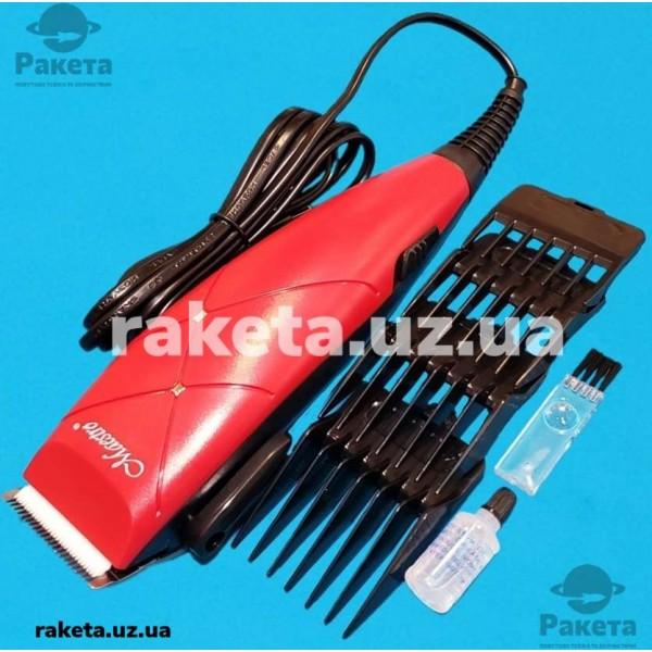 Машинка для стрижки Maestro MR 654С 15W 4 насадка керам ножі щітки для чист масло