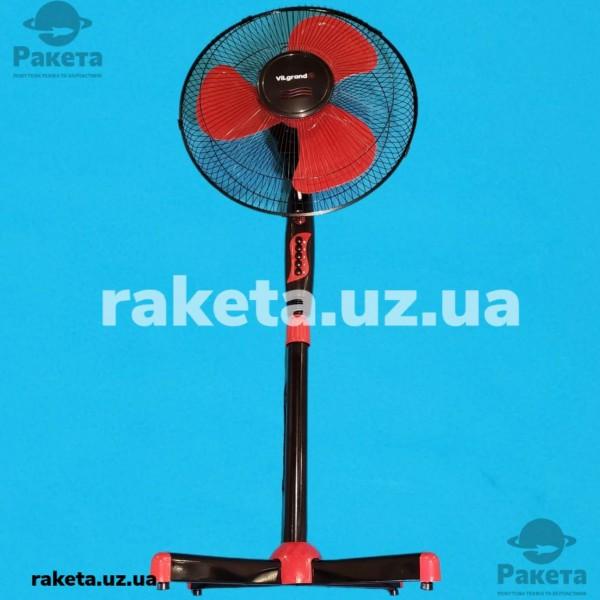 Вентилятор підлоговий Vilgrand VF401 Red 45W 3 швидкості кут повороту 90 D=40 см підсвітка