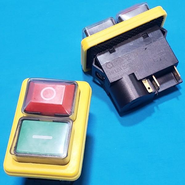 Кнопка бетономішалки 5 контактів 12A CK21 IP54 жовта
