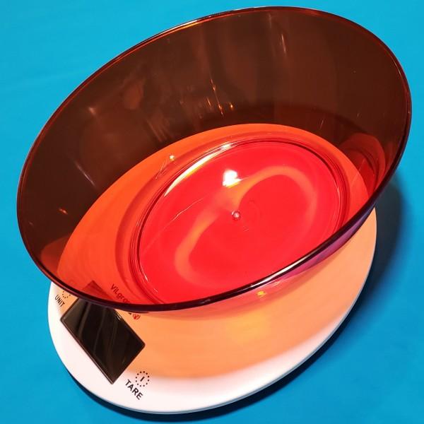 Ваги кухонні електронні Vilgrand VKS-533С red з чашею 5кг точність 1г автовикл