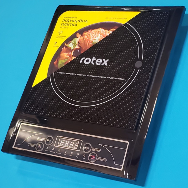Індукційна плита Rotex RIO180-C 2000W сенсор панель захист від перегріву