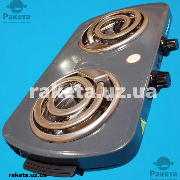 Плита електрична Vilgrand VHP142D Gray 1000W+1000W 2-х камфорна ШИРОКИЙ ТЕН 2 елементи d=155 мм СІРА