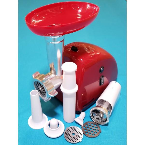 Мясорубка Vilgrand V204-11MG Red 2000W насадки томат реверс ручка ЧЕРВОНА