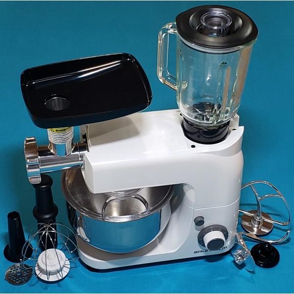 Кухонна машина Grunhelm GKM00202200001159600 1800W 6 швид нержавіюча сталь 5 л чаша + 1,5 л чаша блендера