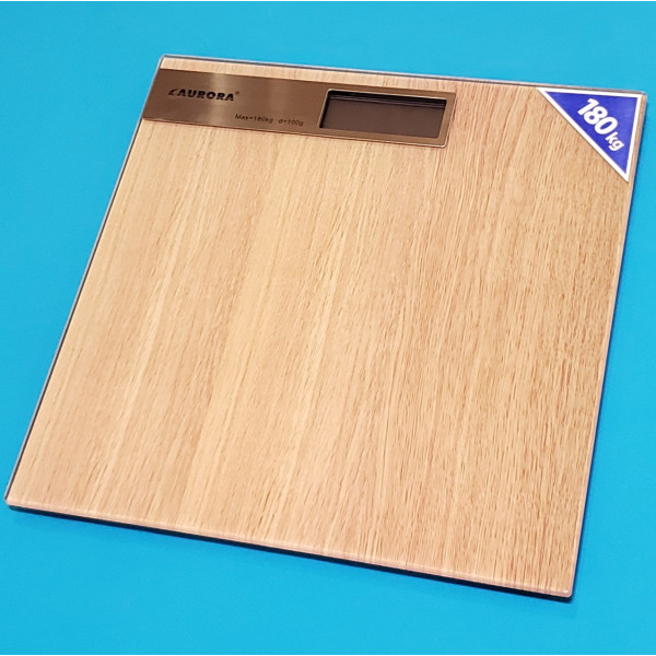 Ваги підлогові електронні Aurora AU 4317 вага 180 кг ціна поділ 100г LCD дисплей автовідключення