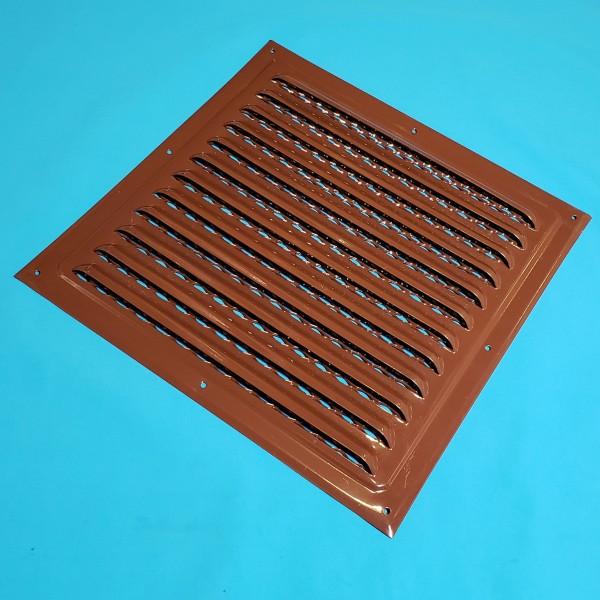 Решітка вентиляційна 250*250 коричнева металічна