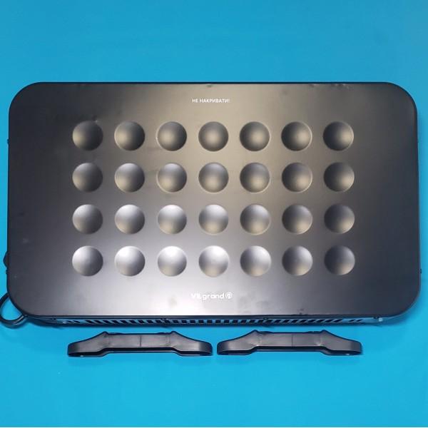 Обігрівач конвекційний Vilgrand VCH7143U Black 2000W стіна підлога 750/1250/2000W, терморегулятор ЧОРНИЙ