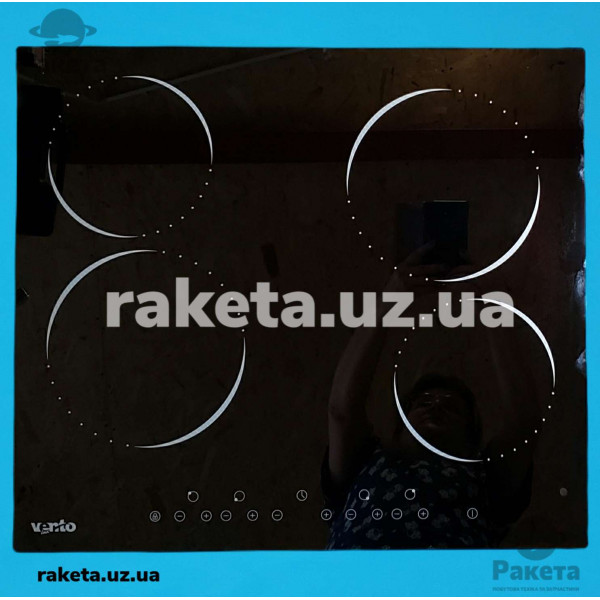 Елек поверхня склокерамічна сенсорна VENTOLUX VB 60 TC 4-х камф чорне скло