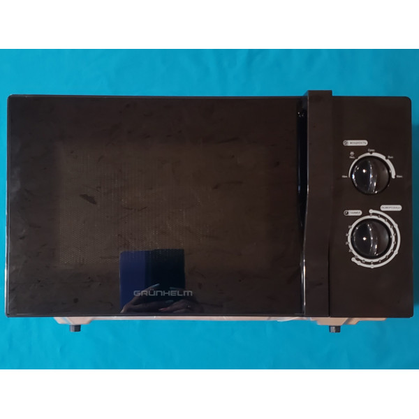 Мікрохвильова піч Grunhelm 23MX723-B чорна 23л 800W 5 рівнів потужності механічна